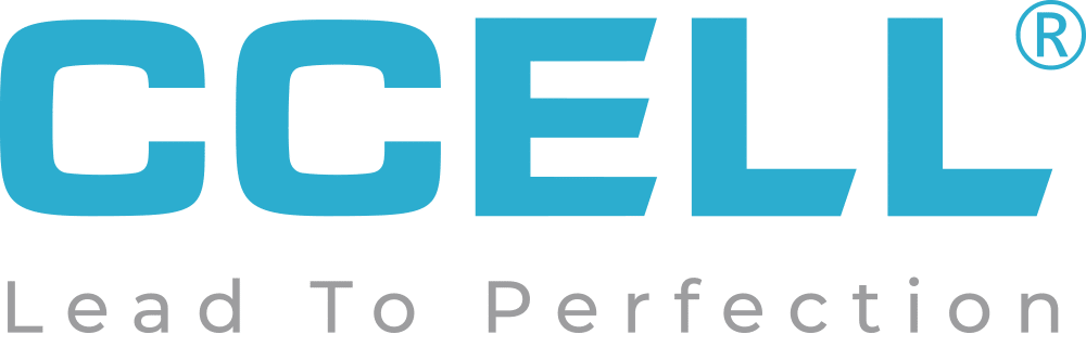 HD ccell logo blue slogan